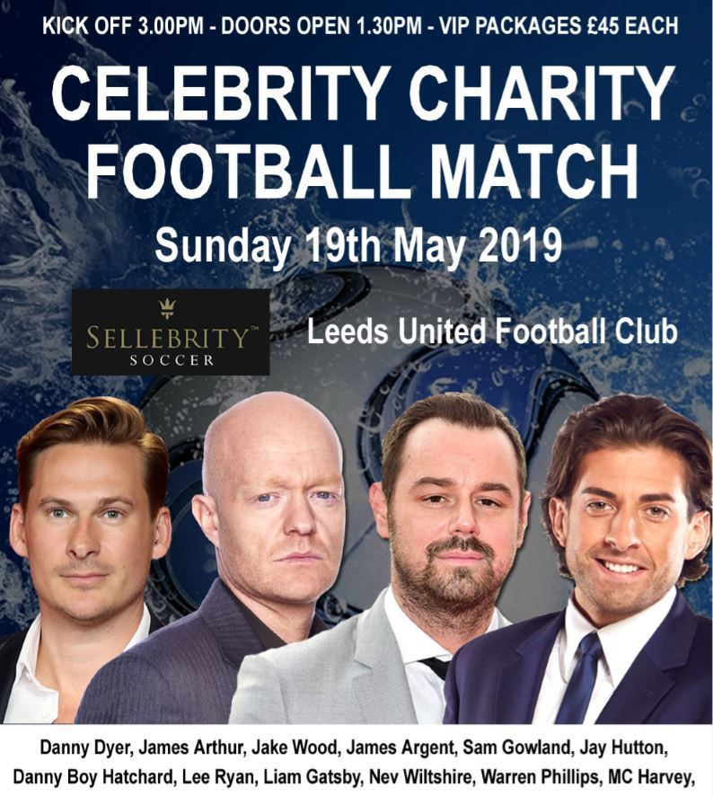 Celebrity Football Match Flyer