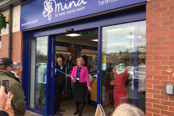 Cutting the ribbon at the Rothwell shop